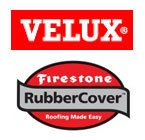 VELUX & Firestone Rubber Cover Logo