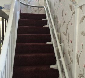 Stairlifts for curved stairs