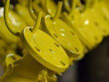 Power coating on industrial metals