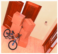Household removals - Coventry - W Grace Removals - Boxes and bike