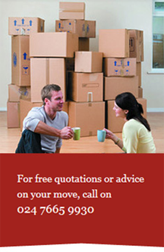Removals service - Coventry - W Grace Removals - Boxes and couple