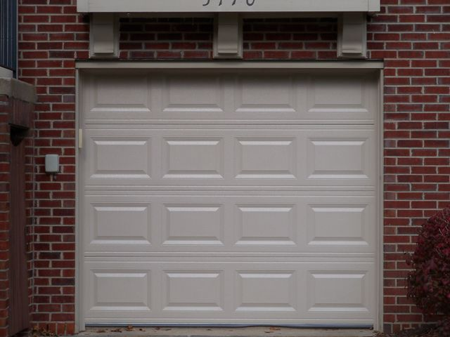 Garage door addition to residential home