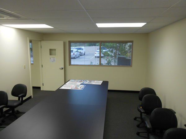 Conference room cleaned by professional