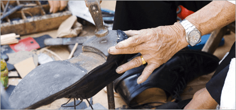 To repair your shoes in Edinburgh call 0131 226 3464