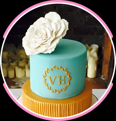 blue coloured cake