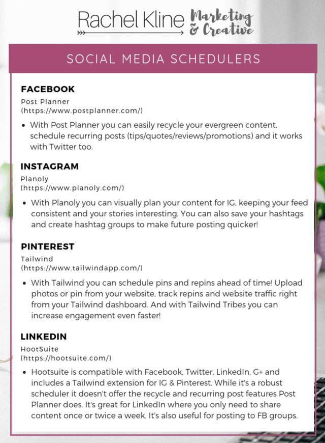 My Top 4 Social Media Schedulers for Facebook, Instagram, Pinterest