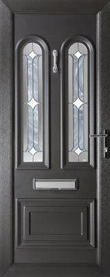 black uPVC security door
