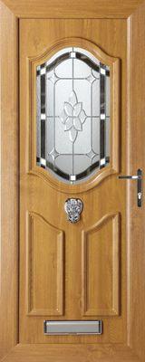 tan coloured uPVC security door