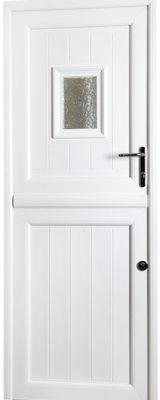 white upvc stable door