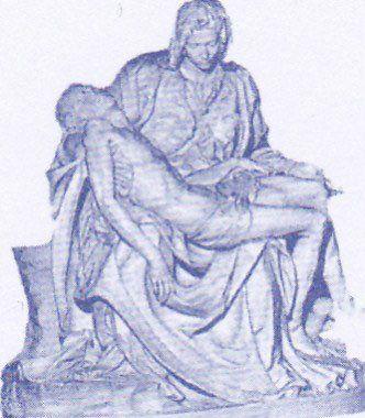 disegno della Pietà di Michelangelo