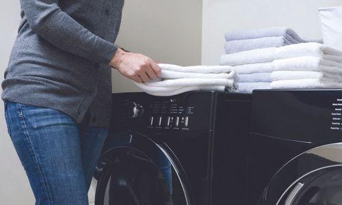 folding the towels