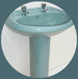 Basin and pedestals