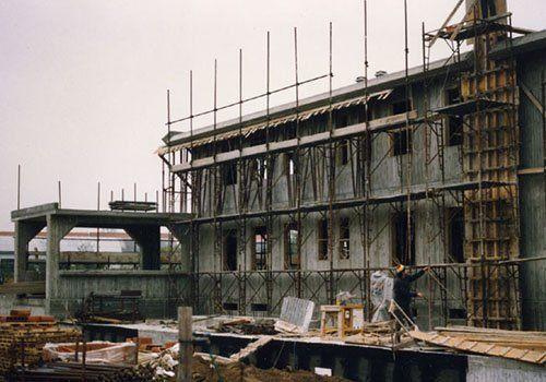 uno stabile in costruzione