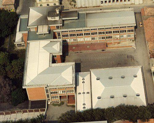 un edificio visto dall'alto