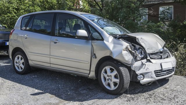 car with damage