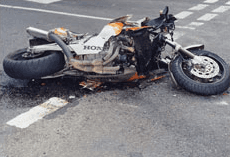bike after accident