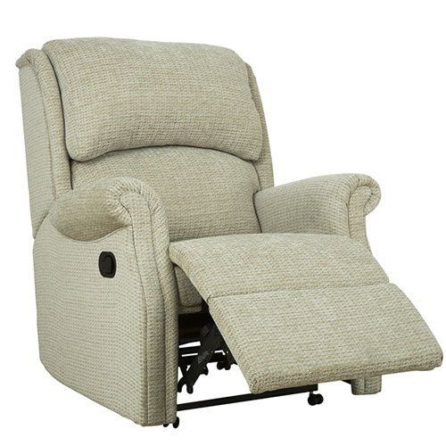 isolated beige chair extended