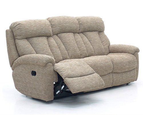 isolated sofa extended