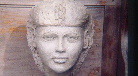 sculpture of a women face