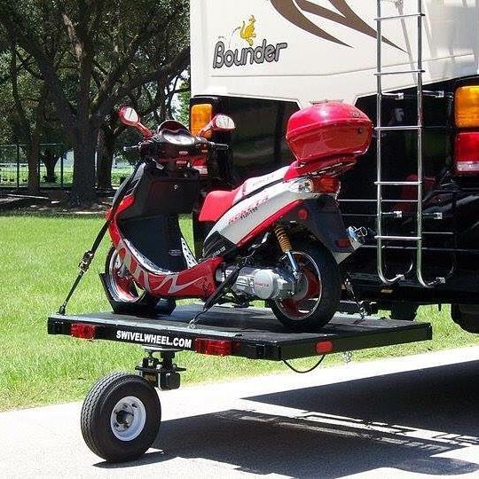 Single Wheel Swivelwheel on Bounder Coach