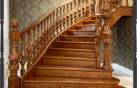 Staircase spindle supply