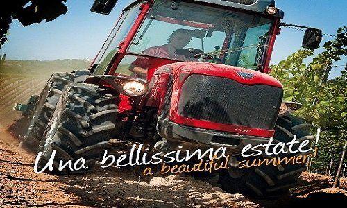 trattore in campagna