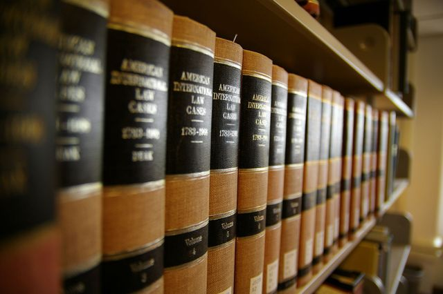 Legal books used by our criminal defense lawyer in Richmond Hill, GA