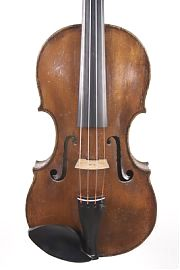 Front of Charles Samuel Thompson old English violin