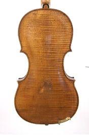 back of Charles Samuel Thompson, old English violin