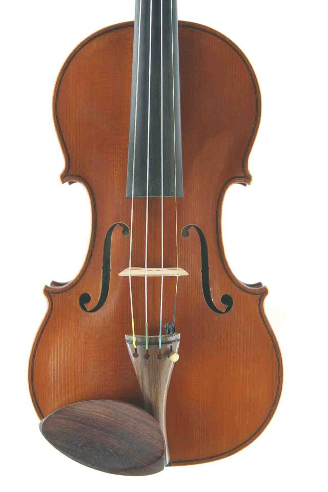 English handmade violin front