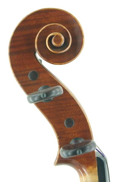 English handmade violin scroll