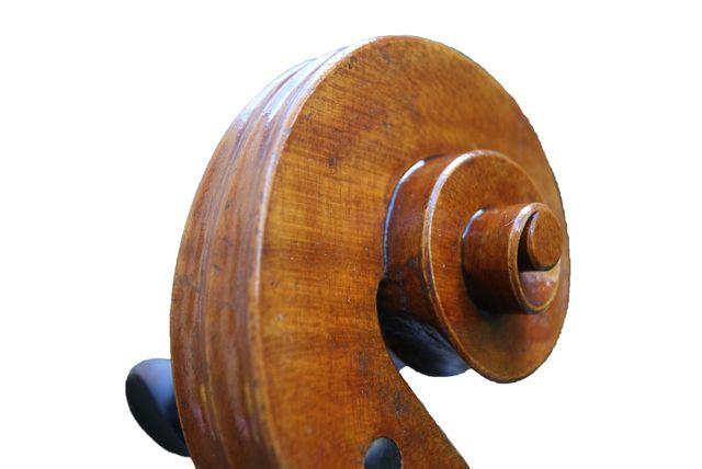 New Rogeri model cello scroll by Edward Gaut - UK