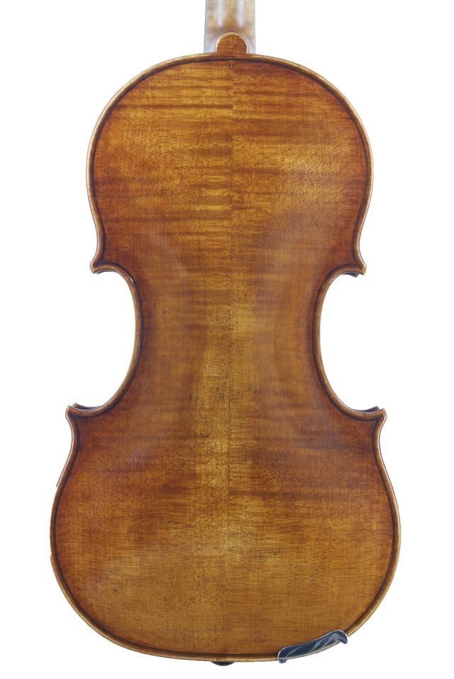 Back of G B Rogeri model violin 1704 by Edward Gaut 2017