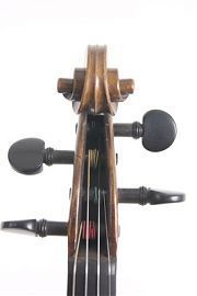Head of old English violin Charles Samuel Thompson