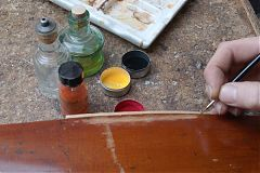Violin varnish retouch - Edward Gaut Violins - Bristol UK