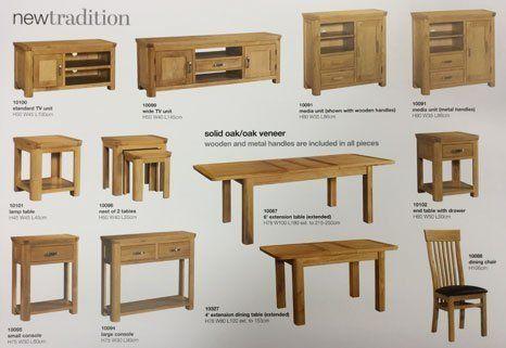a range of dining room sets