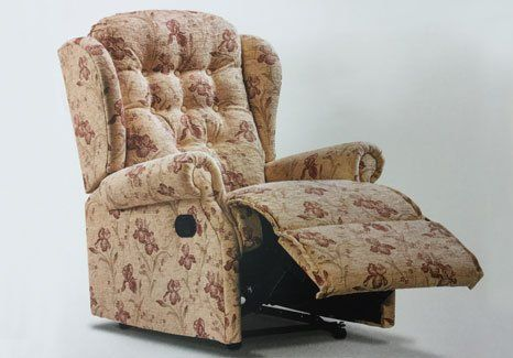 patterned electric powered recliner chair