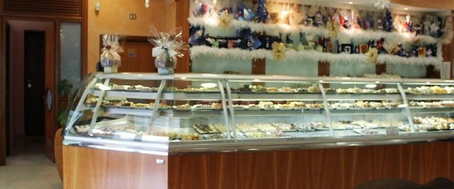 Pastries in the counter in Catania
