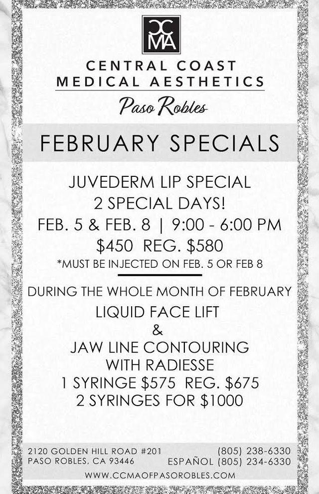 Cosmetic Specials   Paso Robles, CA   CCMA