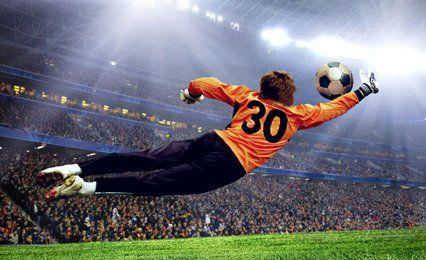 Goal keeper diving