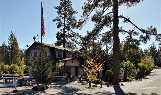 RV Park office at Holloway's Marina in Big Bear Lake California