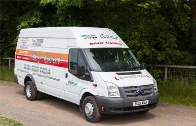 Top Gear Ford Transit training vehicle