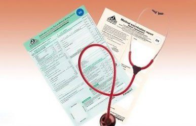 certificates and stethoscope