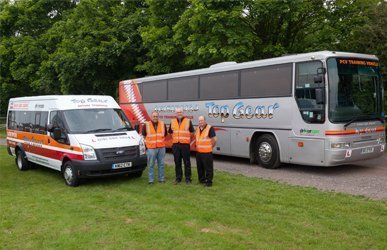 Top Gear training Ford Transit & coach