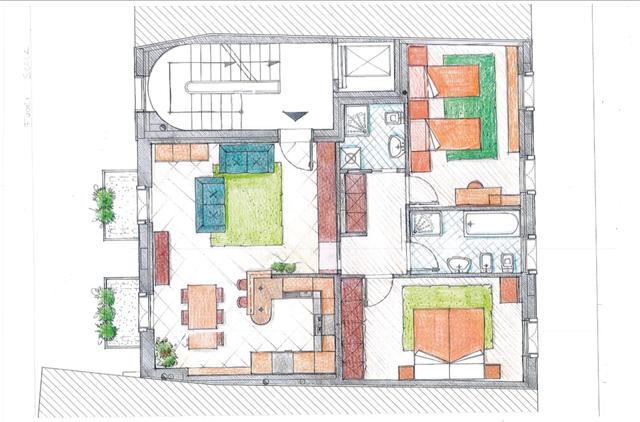 Disegno di un progetto architettonico
