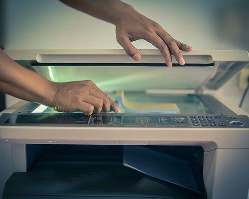 Primo piano de la fotocopiatricce