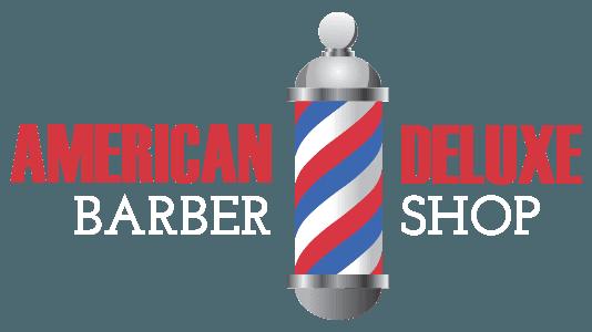 american deluxe barbershop logo
