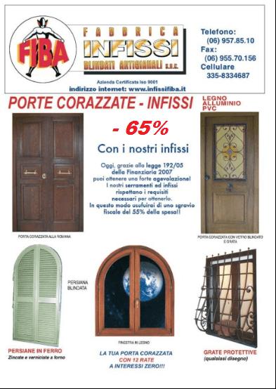 Offerte Porte Blindate E Infissi In Pvc Roma Genazzano Fiba