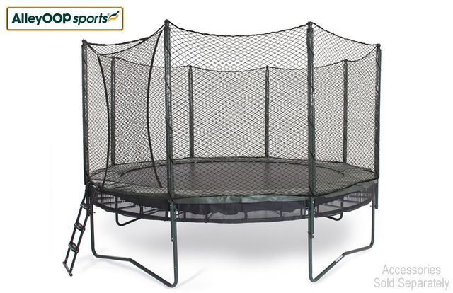 Springless trampoline set