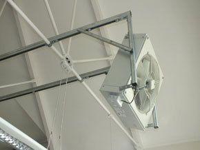 frame suspended fan